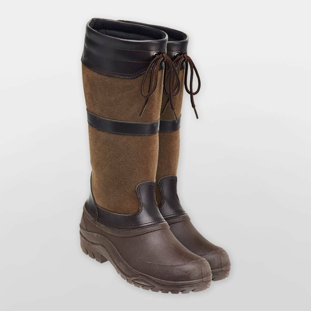 Harry Hall Ramble pays équestre walking Yard Stiefel, braun, Hiver UK 8