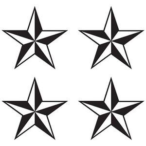 2x Nautical Star Sticker Self Adhesive Vinyl