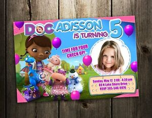 Image Is Loading Doc McStuffins DISNEY BIRTHDAY PARTY INVITATION CARD CUSTOM