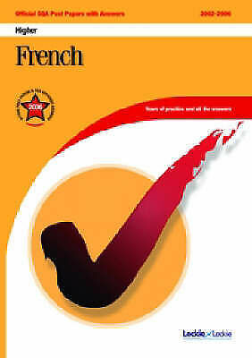 """""""VERY GOOD"""" FRENCH HIGHER SQA PAST PAPERS (Official Sqa Past Paper), , Book"""