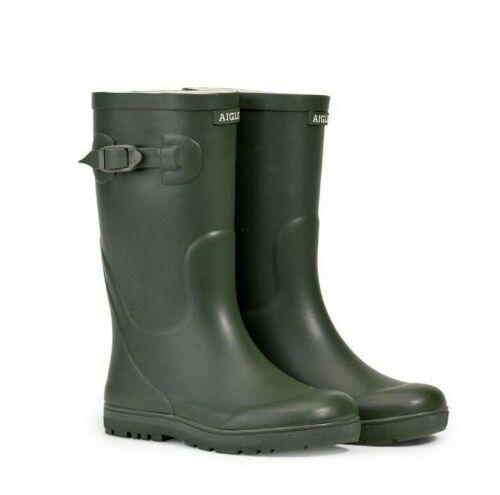 Aigle Children/'s Woodypop Wellington Boots Kids Wellies Khaki
