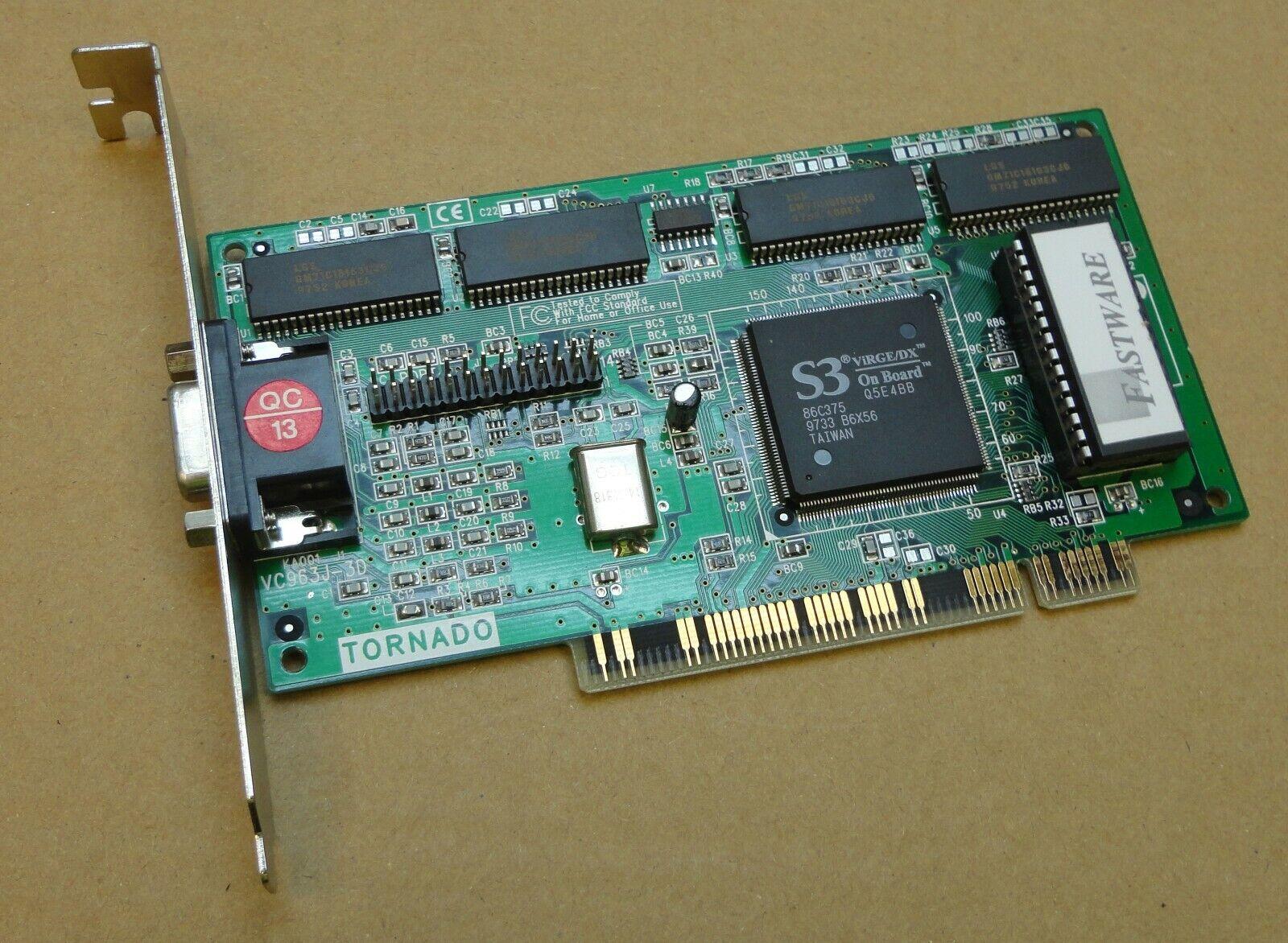 Fastware Tornado VC963J-3D VGA PCI Graphics Card - Chipset: S3 ViRGE/DX Q5E4BB