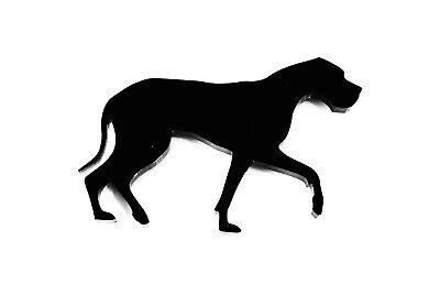 Border Collie Hund Brosche Anstecker Schal Befestigungsmittel Geschenk Schwarz