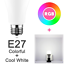 LED-WiFi-Smart-Gluehbirne-Dimmbar-RGBW-Lampe-e27-b22-fuer-Alexa-Google-Home Indexbild 9