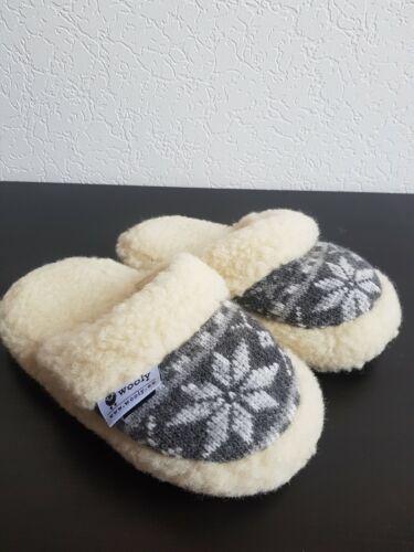 Hausschuhe Slippers Pantoffeln 100/% Wolle Bequem Herren Damen Schuhe 41//42