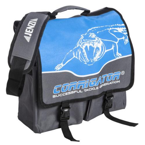 Jenzi Umhängetasche Corrigator Blau 36x33x18cm Schultertragetasche Angeltasche