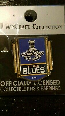 Louis Blues Stanley Cup Collector Pin Jewelry Card WinCraft St