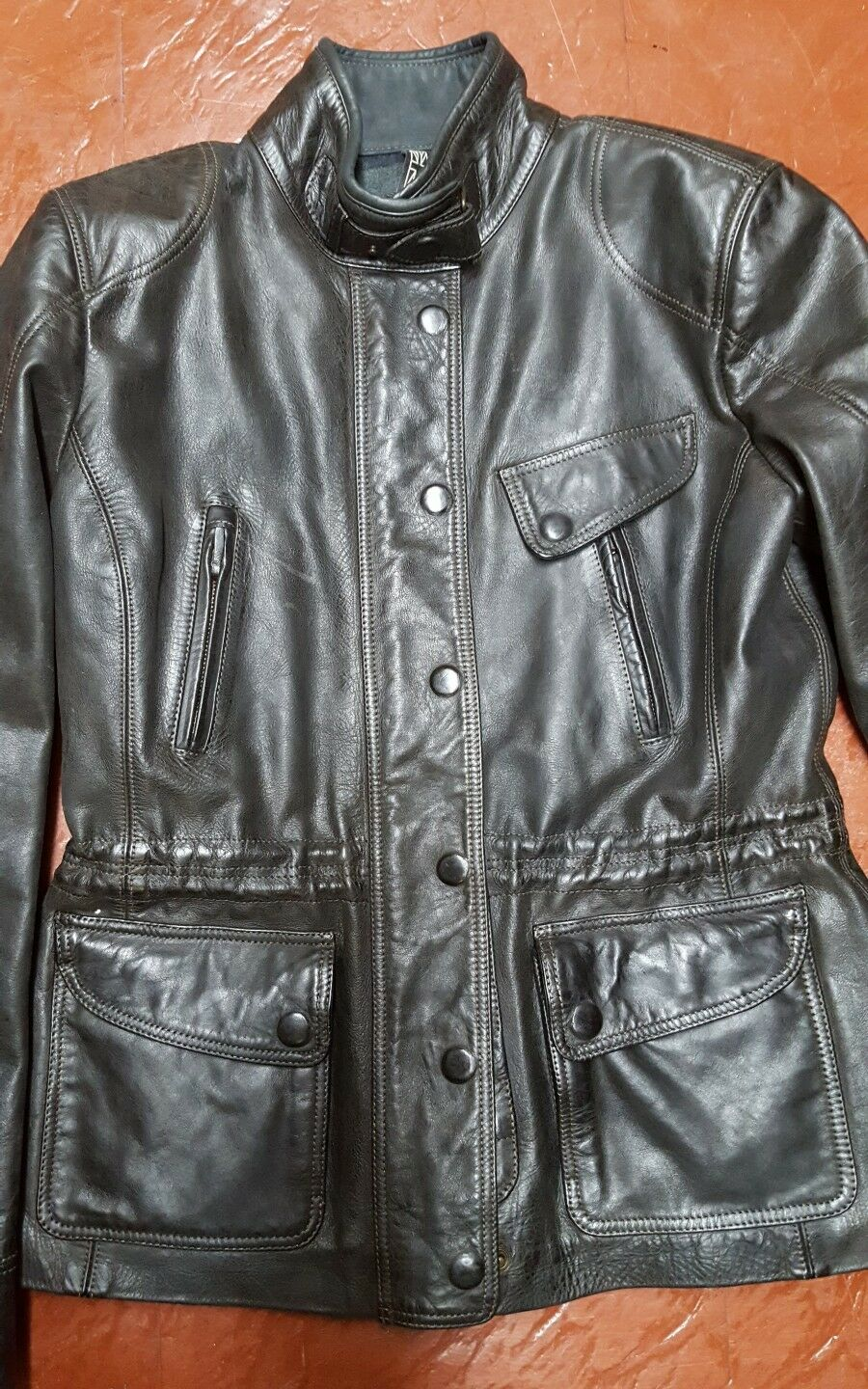 ef3afc9d8 BIKER LONDON MATCHLESS 1750 NWT , LEATHER STLE BELSTAFF , DISTRESS ...