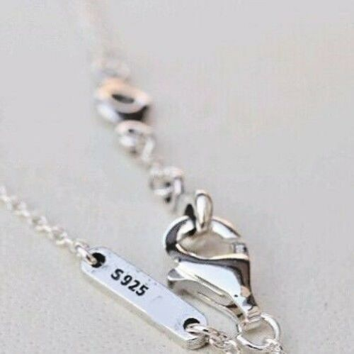 """Argent Sterling 925 gousses d/'amour W Clair Zircone Cubique Euro Chaîne Bracelet Taille 18 cm 7.1/"""""""