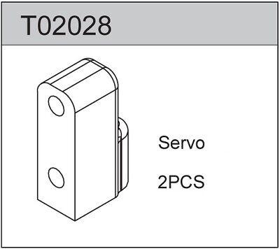 2 Axial SCX10 II STRC STA31387BK Aluminum Front Servo Mount Bracket Set