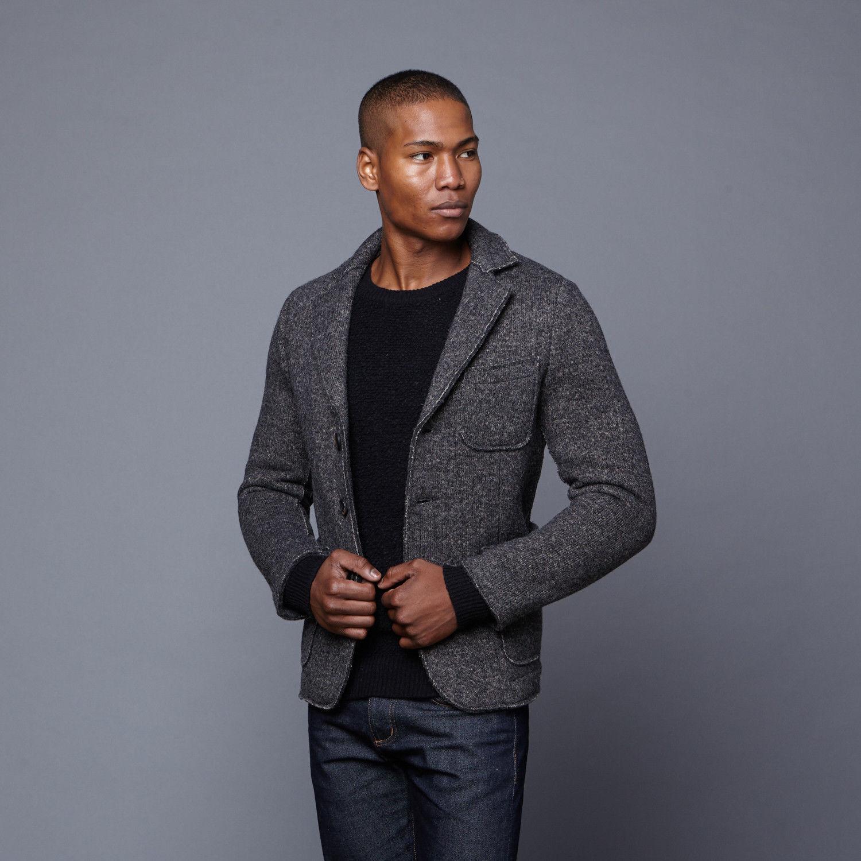 Slate And Stone Harrison Laine wool Blazer Größe L, Made in  NWT