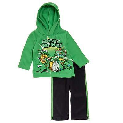 NEW Boys 2pc Outfit Size 7 Hooded Zip Jacket Pants Set Teen Mutant Ninja Turtles