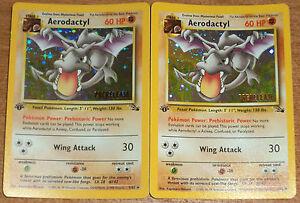 Promo pokemon prerelease aerodactyl ptera holo mint - Pokemon ptera ...