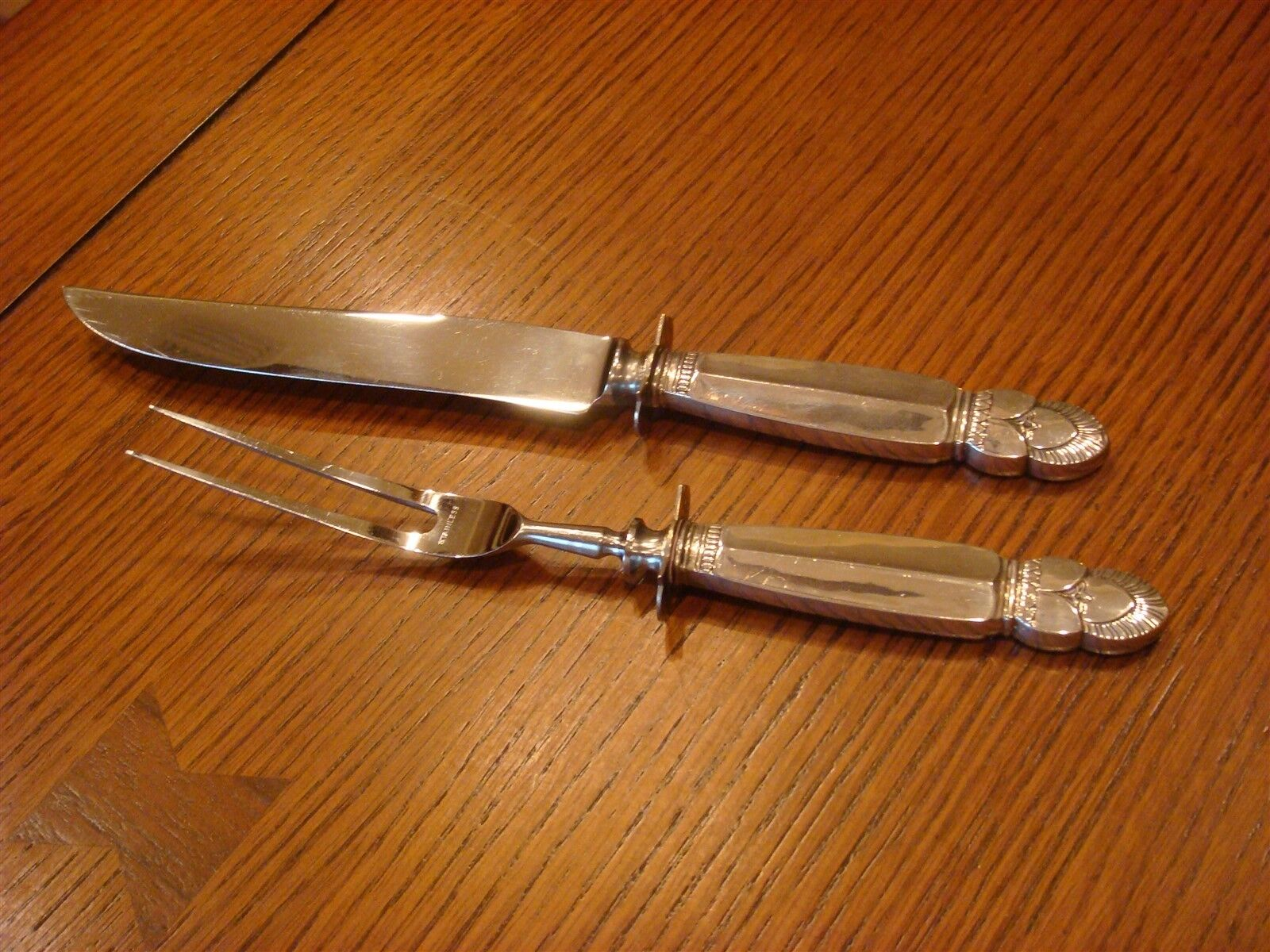 Princess Ingrid by Watson Sterling (1945) Carving Knife & Fork Set
