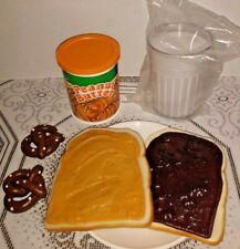 New Listingfake Play Food Peanut Butter Jelly Sandwich Milk Fisher Price Mtc Display Prop