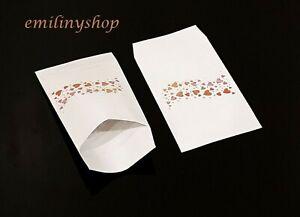 lot 50 pochette sachet fantaisie papier 13.5 x 7 coeur emballage cadeaux,bijux