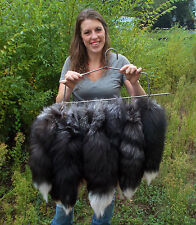 """Tanned Silver Fox Tail  Snow Tips (pressed Grommet) 17""""+ tip to tip slfxtail17+"""
