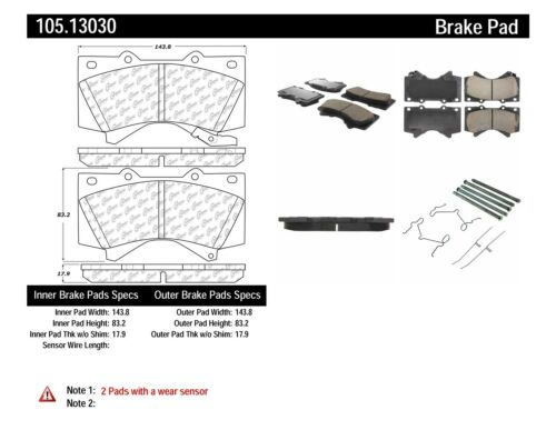 Disc Brake Pad Set Front Centric 105.13030