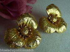 Ohrclips ✿ Rive Gauche ✿ clip-on earrings Vintage YSL #1 Boucles d'oreilles clip