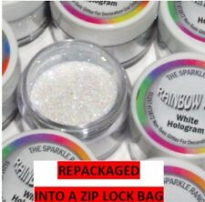 WHITE HOLOGRAM Rainbow Dust Cake Glitter Sparkle repackaged