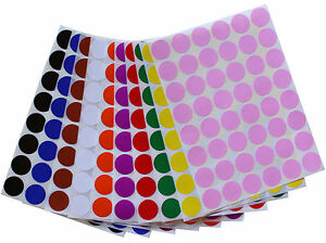 Round-Small-Dots-17mm-Stickers-Color-Coded-Labels-3-4-Inch-Diameter-336-Pack