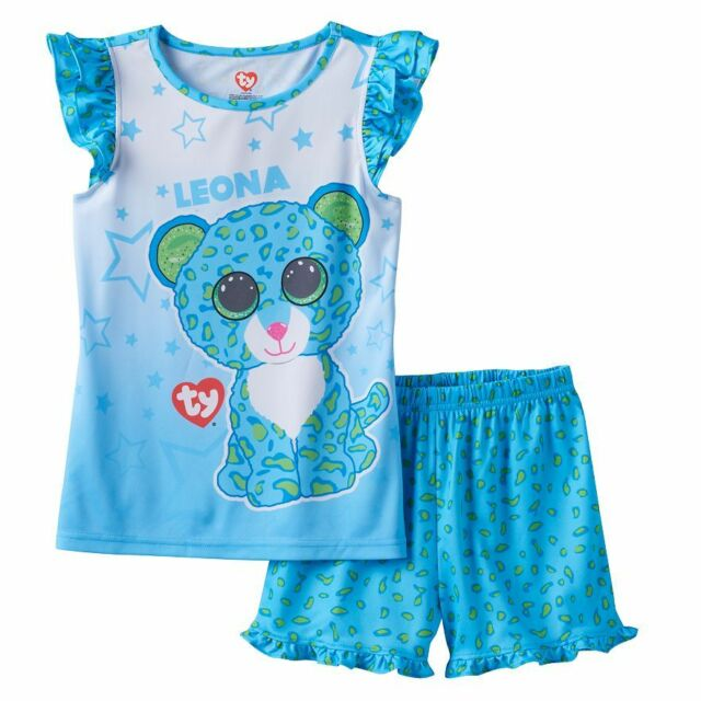 INTIMO Girls Ty Beanie Boo Ruffle Pajama Short Set
