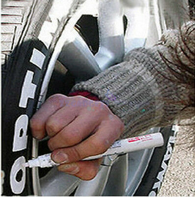 5X Auto Car Motorcycle Wheel Tire Tyre Writing Pen Paint Making Marker Pen White