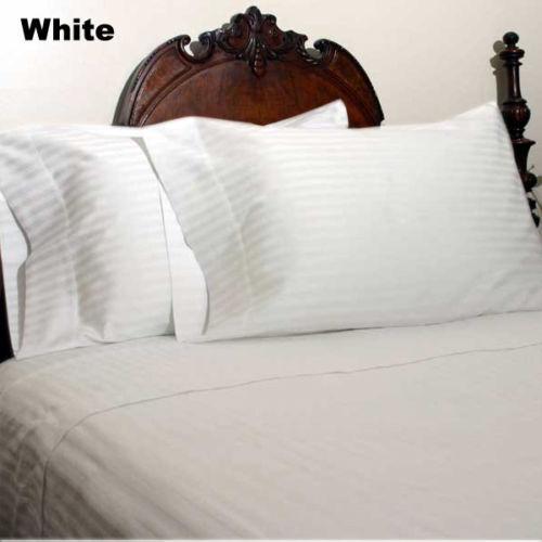 1000 TC Soft Egyptian Cotton All Bedding Items Three Quarter Size Solid//Stripe