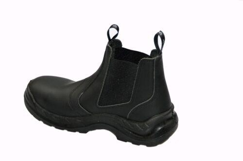 Bicap Slipper N Sicherheitsschuhe Arbeitsschuhe Volllederstiefel Chelsea Boots