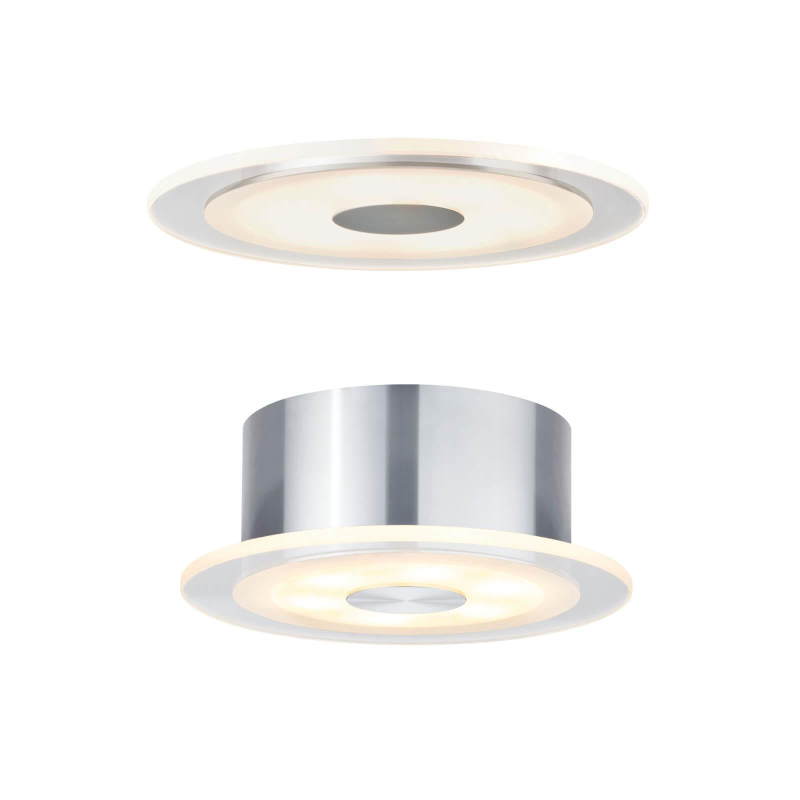 Paulmann Einbau-   Aufbauleuchten-Set Premium Line Whirl LED 6W Alu Satin