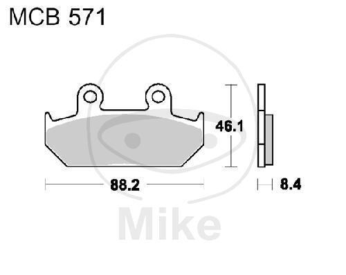 Pastillas Freno Estándar TRW Lucas MCB571