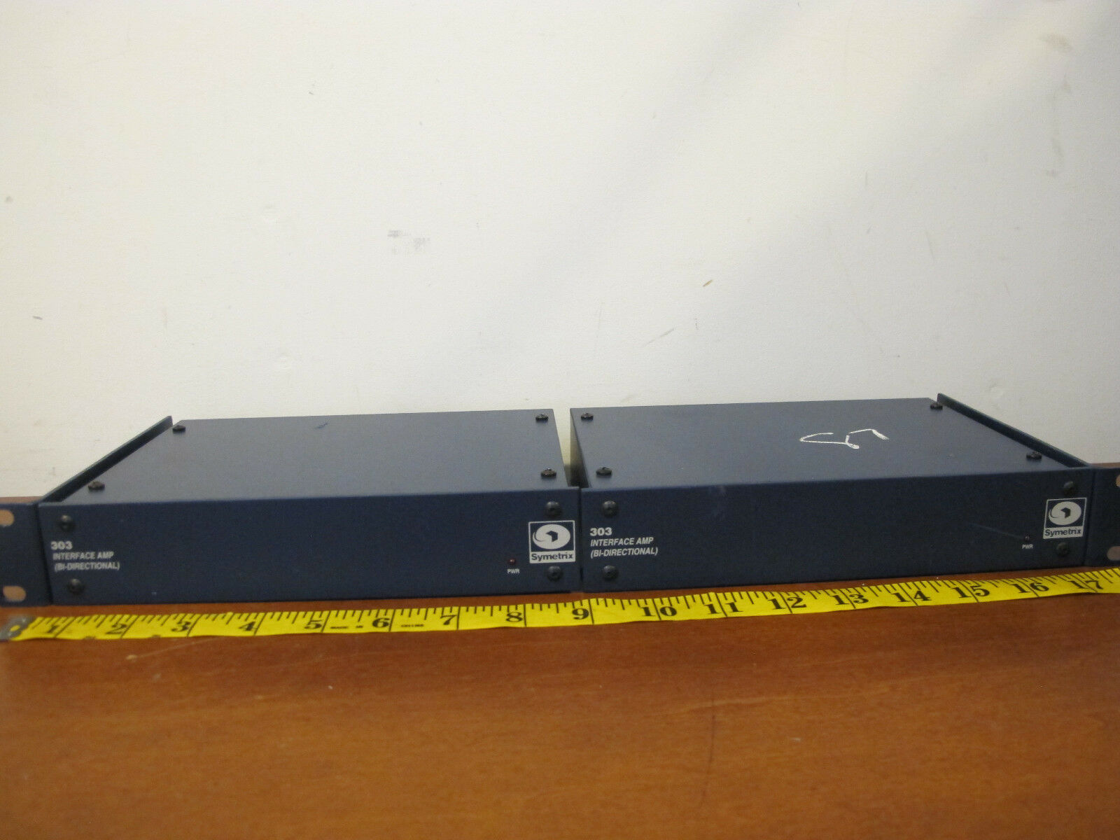 Set of 2 Symetrix 303 Bi Directional Interface Amplifier 300 Series with Mount