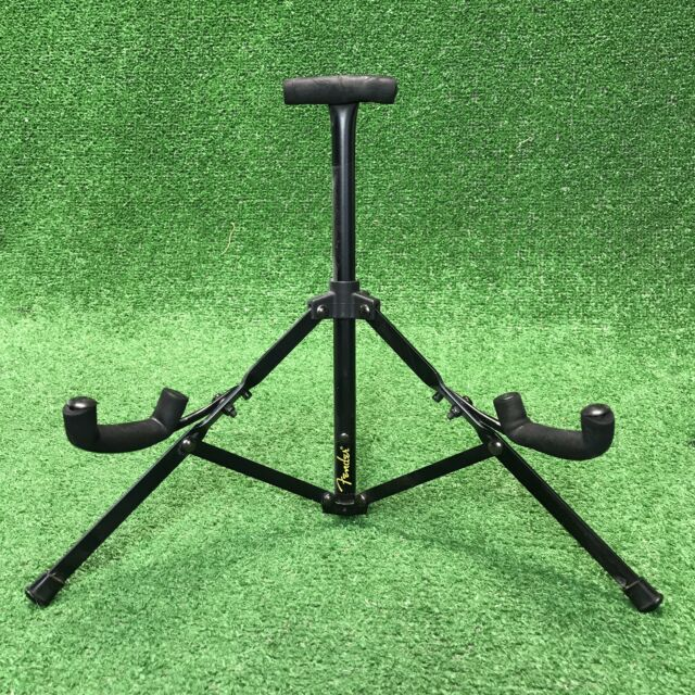 Fender Mini Compact Travel Folding Gig Electric Guitar Stand Black