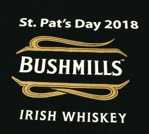 Nouveau-Bushmills-Irish-Whiskey-T-Shirt-Homme-Noir-Rouge-Push-the-Bush-st-pat-039-s-Day-XL