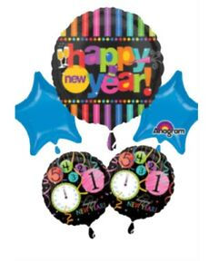 Bright Happy New Year Year's Eve 2019 Party Balloons ...