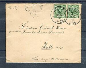 Deutsches-Reich-Mi-Nr-46-MeF-vertikales-Paar-auf-Bedarfsbrief-b1077