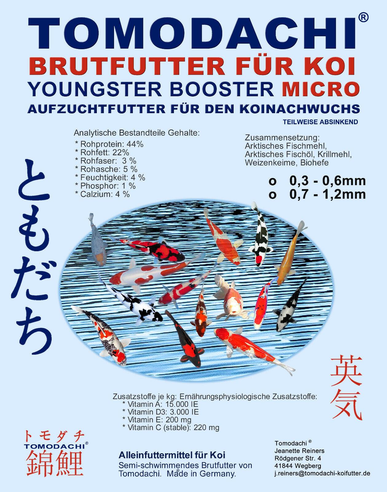 Brutfutter, Koifutter, Aufzuchtfutter Koibrut, Koizucht Futter, 0,7- 1,2mm 10kg