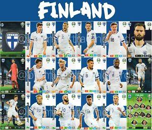 Panini-Adrenalyn-Xl-Uefa-Euro-2020-Finlandia-equipo-completo-de-18-Cartas-Set-Euros