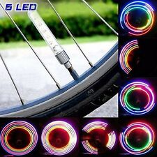 2x FireFly 5-LED Bike Bicycle Wheel Spoke LED Light Flashing Tire Valve Cap Core