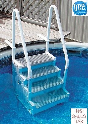 Confer Pool Steps Above Ground Swimming Access Ladder Stairs Deck Entry  System | eBay