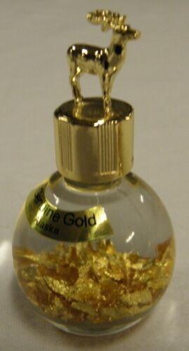 with Caribou Top In 1 Oz. Miner/'s Assay Bottle Alaska 24k Gold Flakes