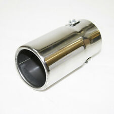 Chrome Exhaust Pipe Sport Muffler Tip For Alpha 156 159 147 GT Spider