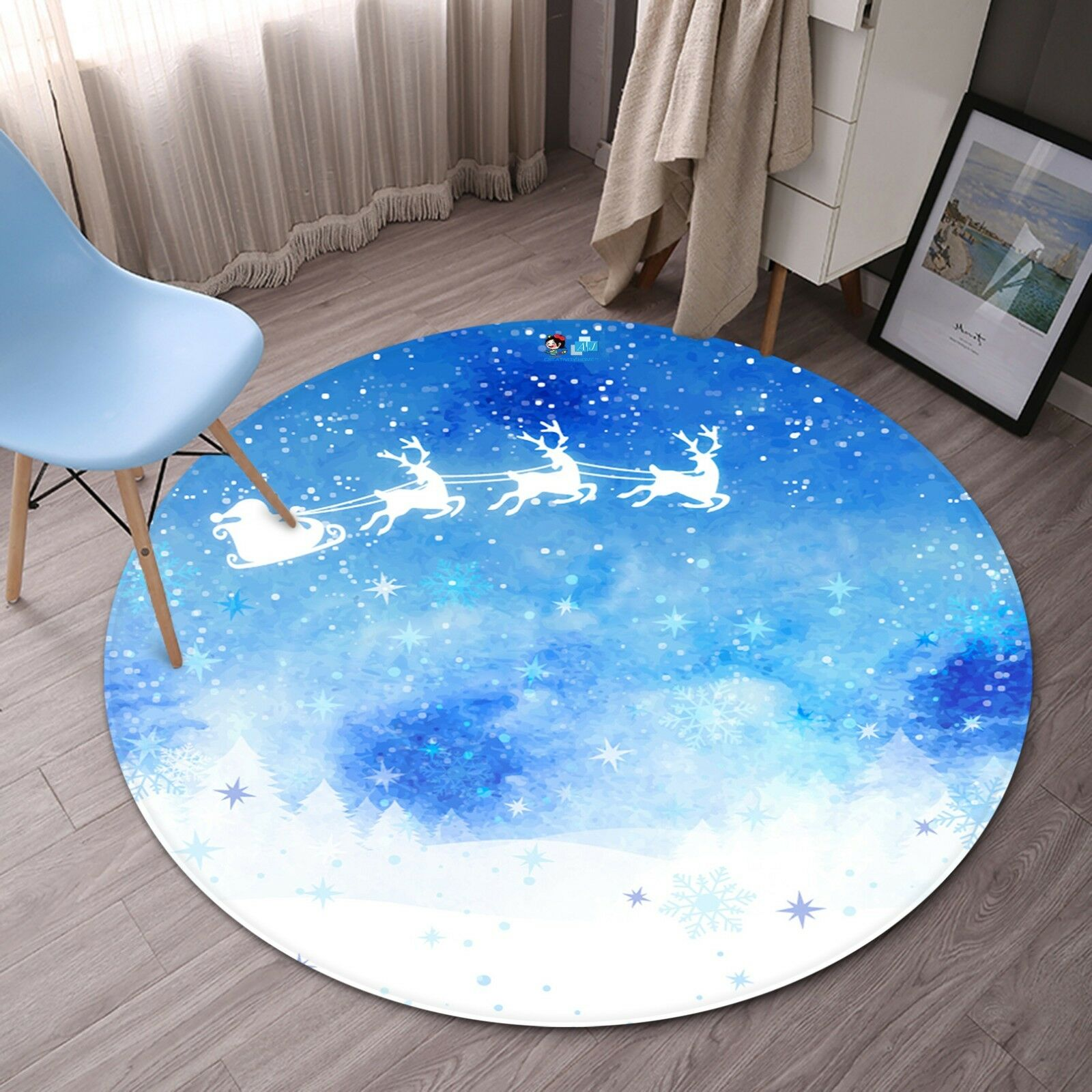 3D Christmas  Xmas 529 Non Slip Rug Mat Room Mat Round Elegant Photo Carpet AU