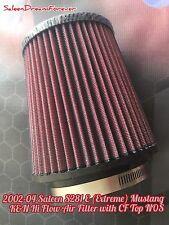 2002-04 SALEEN S281E MUSTANG K&N HIGH FLOW AIR FILTER NOS CF TOP FORD GT COBRA