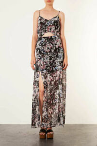 real quality lowest discount real quality Details about BNWT TOPSHOP GRID FLORAL MAXI DRESS UK 8