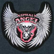 Asphalt angel ladies embroidered motorcycle chick mc club biker.