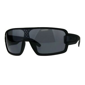 d81fa74f2 Image is loading KUSH-Goggle-Sunglasses-Mens-Matted-Black-Shield-Frame-