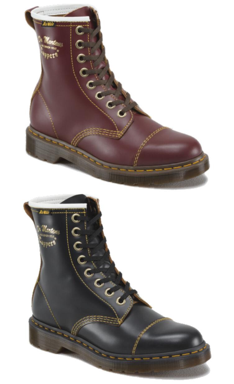 Dr Martens Capper Vintage 1460Z 8 Cherry Eye in Negro or Cherry 8 Rojo Leather botas 4e9c21