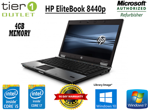 HP-EliteBook-8440p-Intel-i5-i7-4GB-Ram-250-500GB-HDD-Win-7-10-Laptop-DVD-Camara-Web