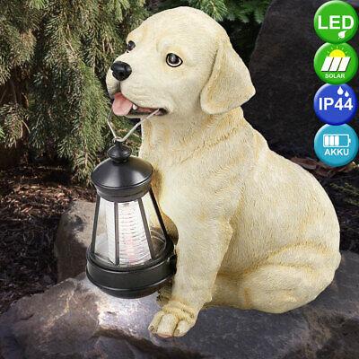 Deko LED Außen Solar Retriever Hund Figur Lampe Leuchte Beleuchtung Garten Hof | eBay